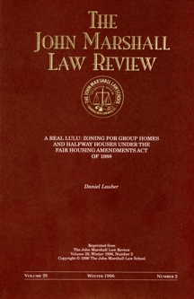 Law review article cover